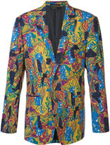 Issey Miyake geometric abstract print blazer - men - Cupro/Wool - 5