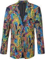 Issey Miyake geometric abstract print blazer - men - Wool/Cupro - 3