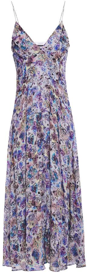 IRO Severn Pleated Floral-print Georgette Midi Dress