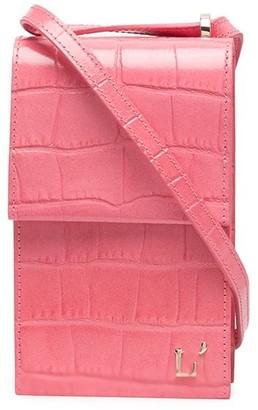 L'Autre Chose Mini Crocodile-Effect Shoulder Bag