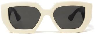 Gucci Geometric Frame Sunglasses