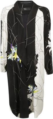 Y's Ys Floral Print Long Coat