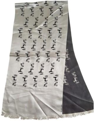 Hermã ̈S HermAs Silver Silk Scarves