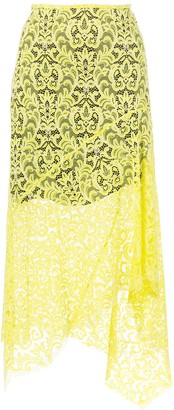 Marques Almeida Lace Layered Midi Skirt