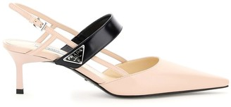 Prada Slingback Pumps With Triangle Logo