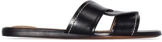 Chloé twist-strap leather slides