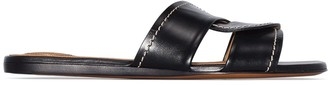 Chloé Twist-Strap Leather Slides