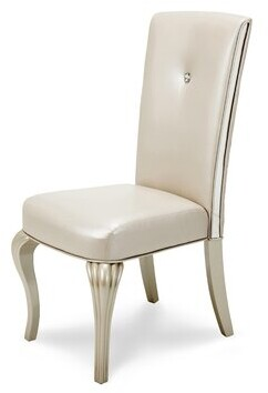 Hollywood Loft Upholstered Dining Chair Michael Amini Upholstery Color: Pearl