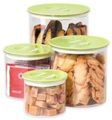 Oggi OggiTM 4-Piece Round Stack-N-Store Canister Set in Green
