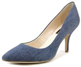 INC International Concepts Zitah Pointed Toe Canvas Heels.