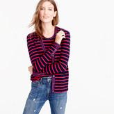 J.Crew Metallic-trim striped cardigan sweater