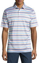 Peter Millar Johnson Striped Cotton Lisle Polo Shirt