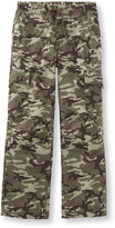 L.L. Bean Boys' Cotton Twill Cargo Pants, Print
