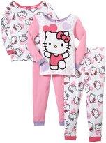 SANRIO Hello Kitty 4-Piece PJ Set (Toddler) - Pink-2T