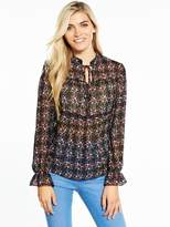 Very Printed Tiered Blouse