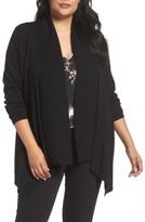 Sejour Plus Size Women's Cascade Open Front Cardigan