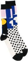 Henrik Vibskov patterned ankle socks - unisex - Cotton/Nylon/Spandex/Elastane - One Size