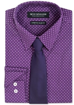 Nick Graham Men's Slim-Fit Dress Shirt & Tie