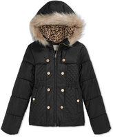Jessica Simpson Girls' Faux-Fur Hood Jacket