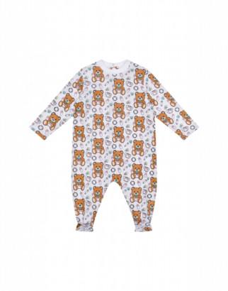 Moschino Baby Teddy Bear Onesie Unisex White Size 3/6m It