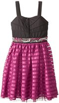 Ruby Rox Big Girls' Dress with Ribbon Mesh Skirt