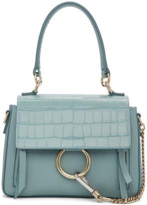Chloé Blue Mini Croc Faye Day Bag