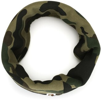 A Bathing Ape Camouflage Print Scarf