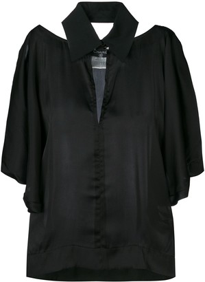 Chanel Pre Owned 2000 Cut-Out Collared Blouse