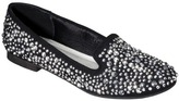 Mia 2 Women's Cosette Studded Smoking Flat - Black