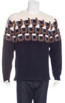 Prada Alpaca Intarsia Sweater w/ Tags