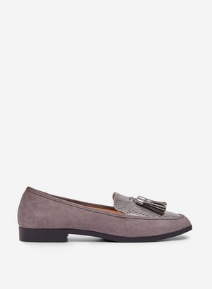 Dorothy Perkins Womens Grey 'Lille' Loafers, Grey