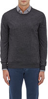 Barneys New York Men's Wool Crewneck Sweater-DARK GREY