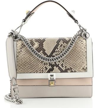 Fendi Kan I Bag Leather and Python Medium