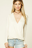 Forever 21 FOREVER 21+ Surplice-Front Top
