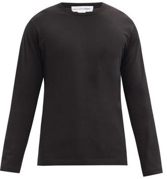 Comme des Garçons Shirt Logo-print Cotton-jersey Long-sleeved T-shirt - Black