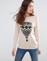 Sugarhill Boutique Lena Hot Air Balloon Slouchy Sweater