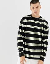 New Look oversized long sleeve t-shirt with in black stripe