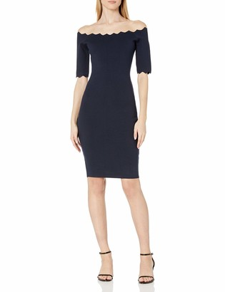 Milly Women's Pointed Scallop Fitted Dress