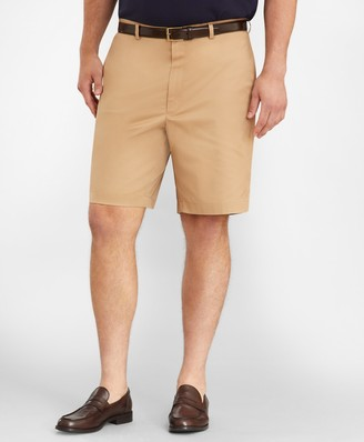Brooks Brothers Big & Tall Flat Front Stretch Advantage Chino Shorts