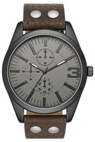 Mossimo Men's Dual Stud Strap Watch - Brown/Gunmetal