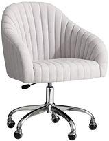 Soho Desk Chair, Light Gray Linen Blend