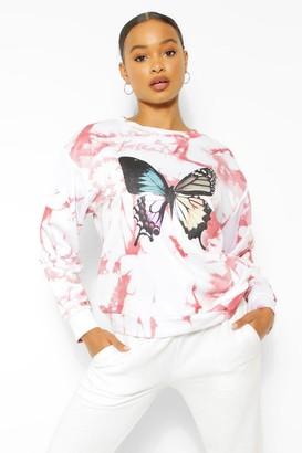 boohoo Tie Dye Butterfly Sweater
