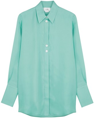 Victoria Victoria Beckham Mint Silk-twill Shirt