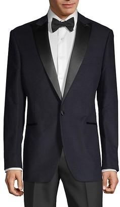 Saks Fifth Avenue Standard-Fit Cotton-Blend Tuxedo Jacket