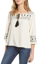 Cupcakes And Cashmere Women's Jed Peasant Top