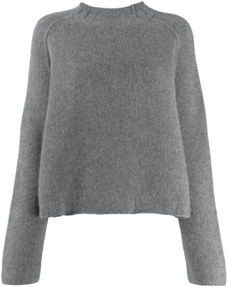 Kristensen Du Nord Textured Knit Crew Neck Sweater