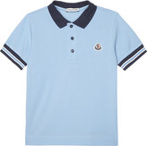 Moncler Stripe trim cotton polo shirt 4-14 years