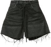Off-White pinstripe denim shorts - women - Cotton/Spandex/Elastane - 25