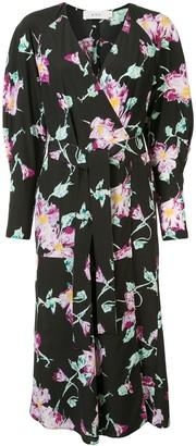 A.L.C. Quinn floral print wrap dress