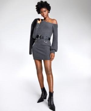 Bar III Asymmetrical Tunic Sweater, Created for Macy's